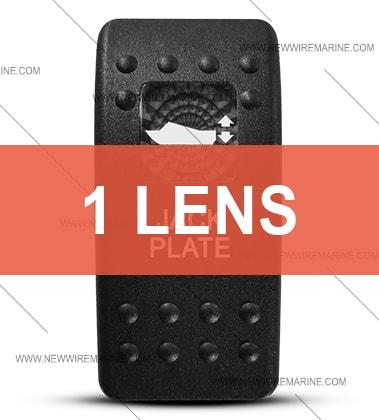 Contura II Jack Plate switch cover
